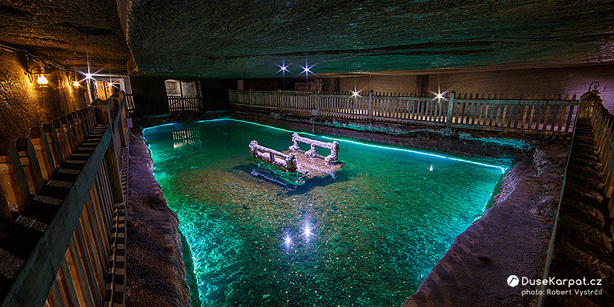 Salt mine Cacica - a pond in the underground