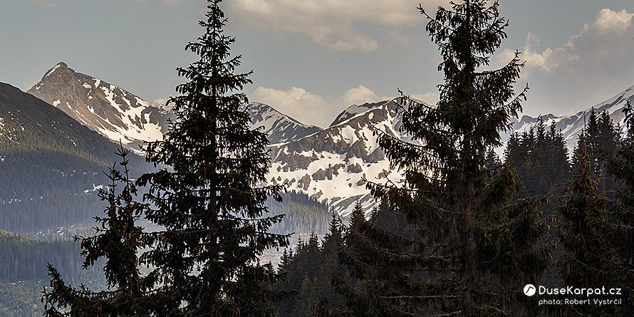 Rocky peaks of the main ridge of the Rodna Mountains