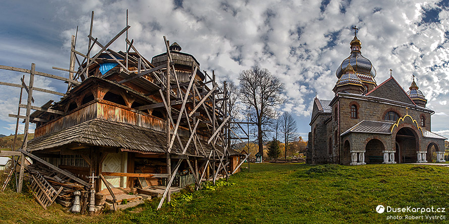 Isai - wooden church of St. Michal Archangel and church of St. George