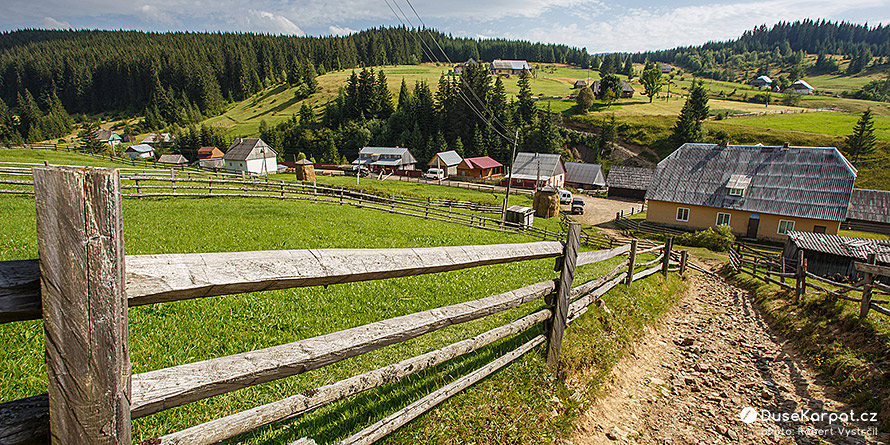 The picturesque mountain village Svoboda